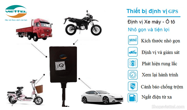 Thiết bị smart motor viettel lắp được trên tất cả các loại xe