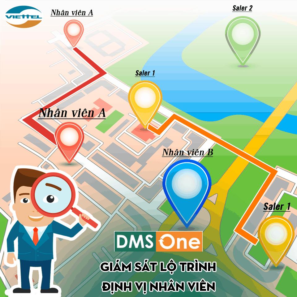 DMS ONE giám sát lộ trình nhân viên