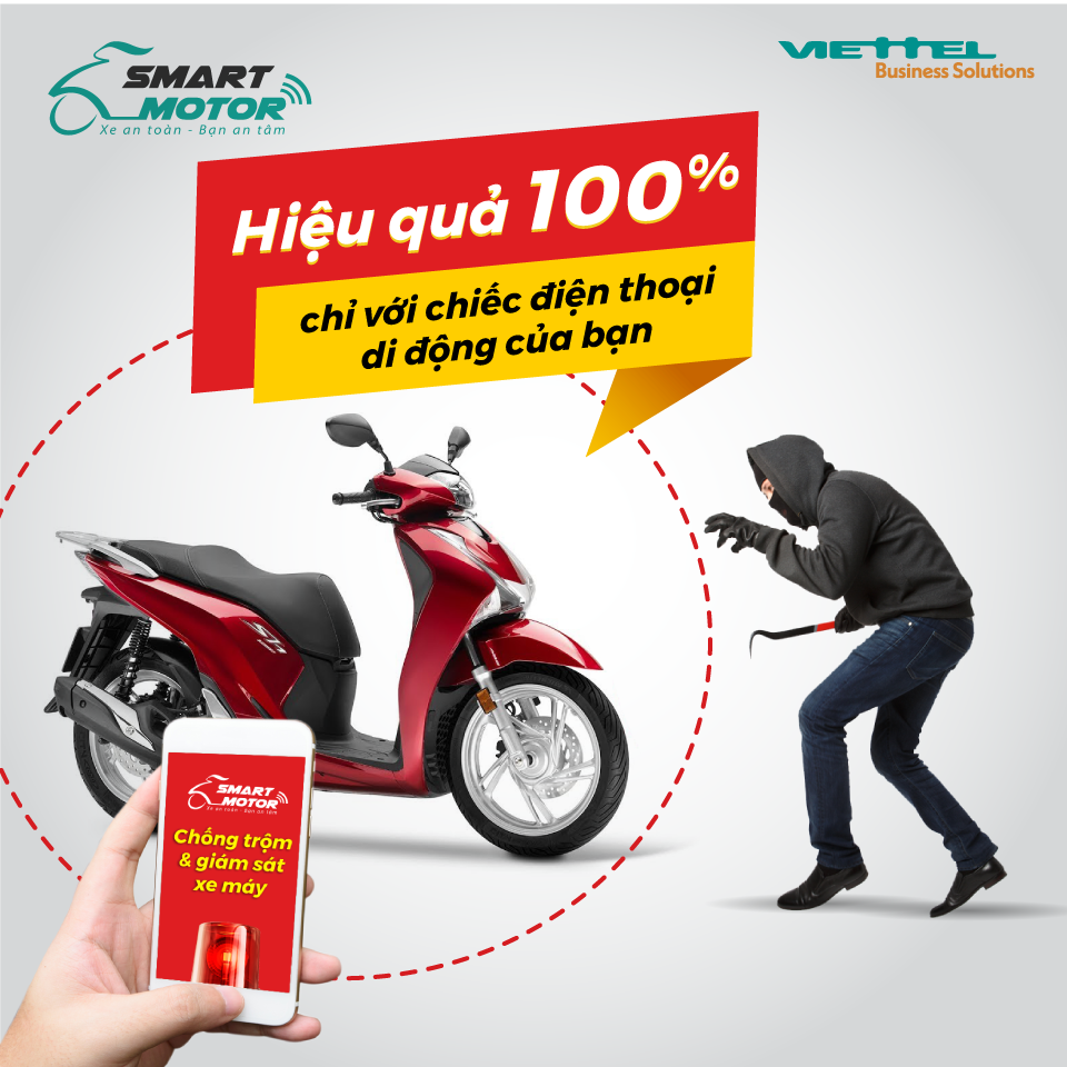 Giải pháp chống trộm xe máy viettel