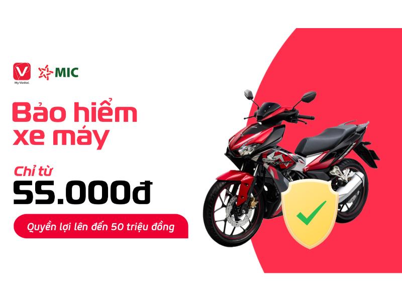 Bảo hiểm xe máy online Viettel