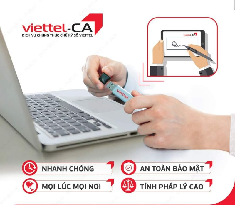 Chữ ký số Viettel tại Vĩnh Phúc